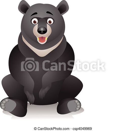 black bear cartoon eps vectors search clip art illustration rh canstockphoto com cartoon black bear cub cartoon bear black and white