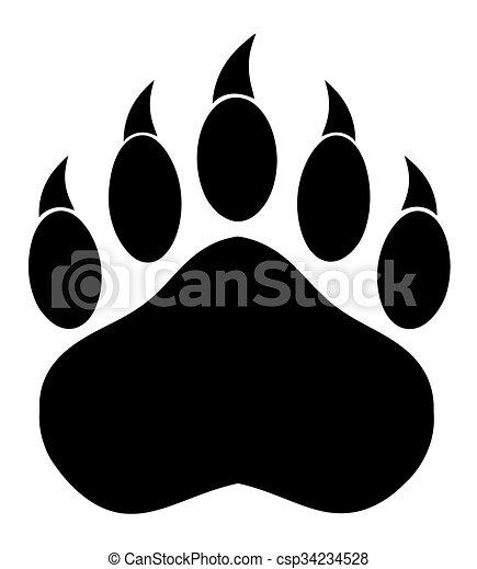 Black Bear Paw  - csp34234528