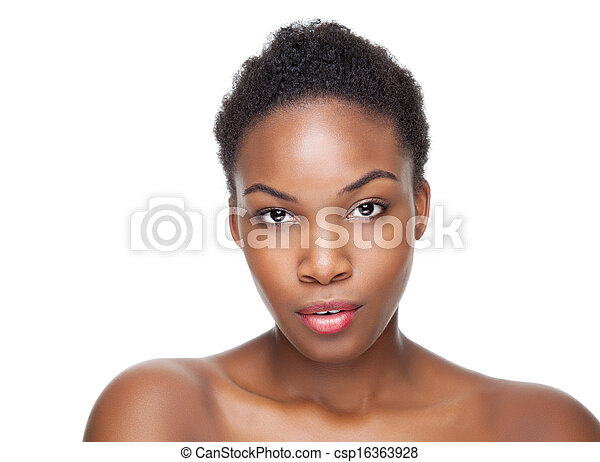 Black beauty with short hair - csp16363928