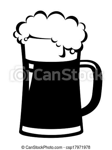 black beer mug on white background vectors illustration search rh canstockphoto com beer mug clip art black and white beer mug clip art black and white