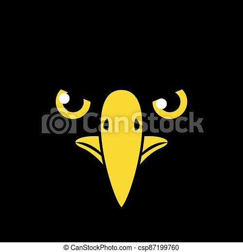 black bird flat draw face - csp87199760
