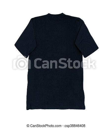 Black Blank Tshirt Template Isolated On White - Blank tshirt template