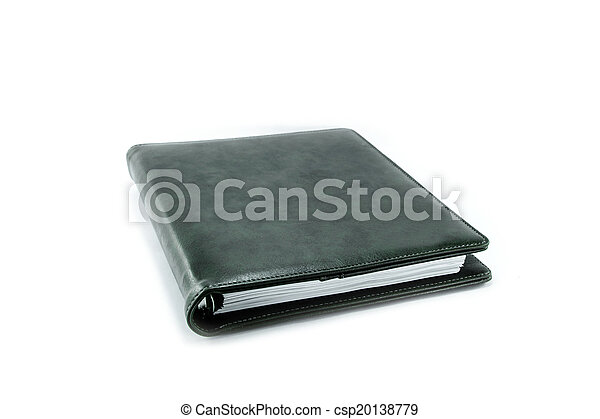 Black book isolated on white - csp20138779