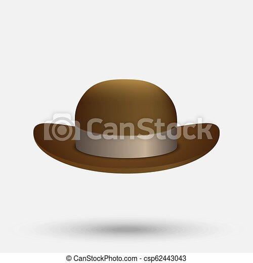 ceea63c32e9 Black bowler hat. Bowler hat on a white background vector illustration.