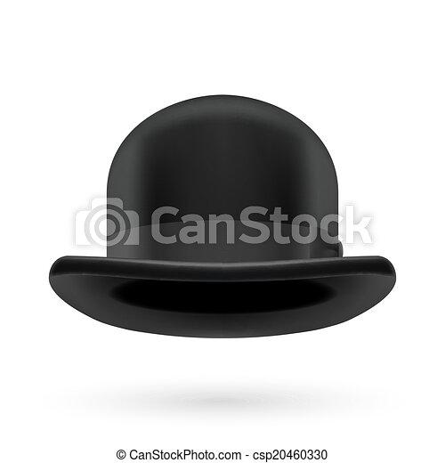 Black bowler hat - csp20460330