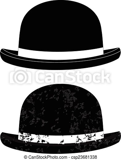 7474d7c5b3f Black bowler hat on a white background vector eps 10.