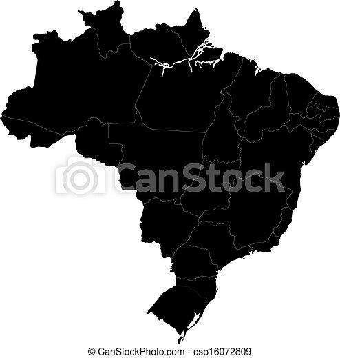 Black Brasilia map - csp16072809