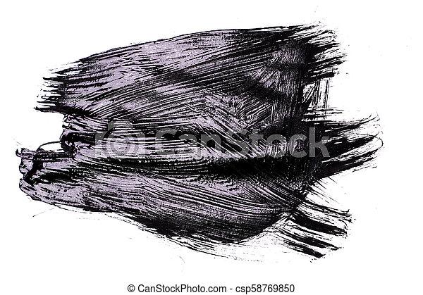 black brush stroke isolated on background - csp58769850