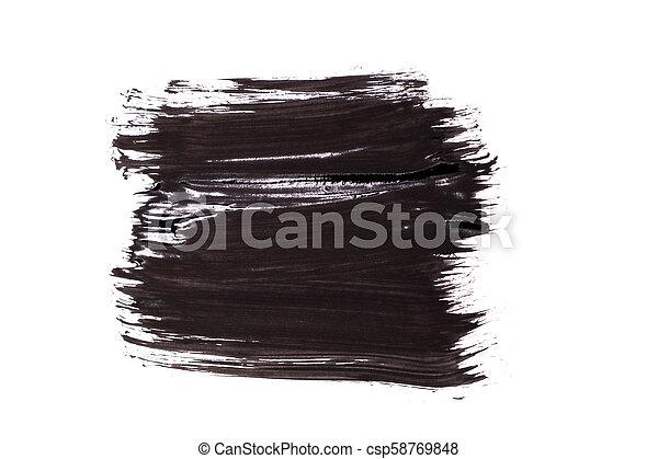 black brush stroke isolated on background - csp58769848
