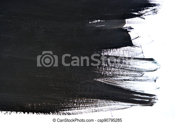 black brush strokes on white paper - csp90795285