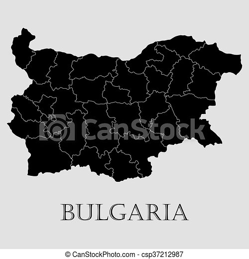 Black Bulgaria map - vector illustration - csp37212987