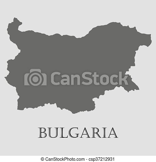 Black Bulgaria map - vector illustration - csp37212931