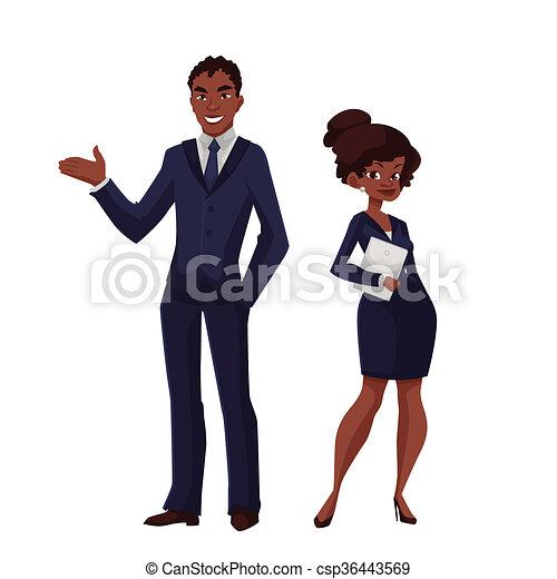 Dabbing Black Businessman Cartoon Vector Clipart - FriendlyStock
