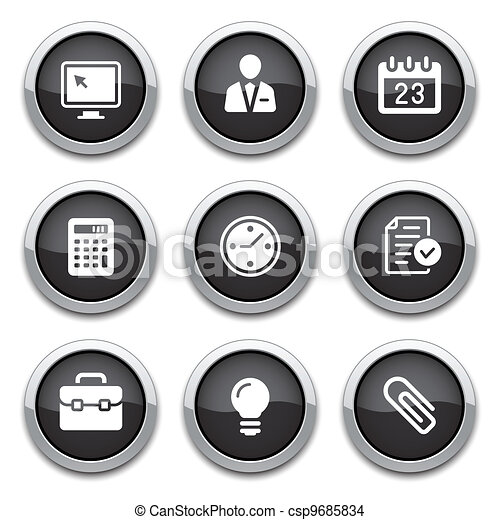 black business & office buttons - csp9685834