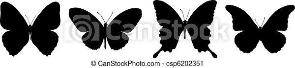 black butterflies - csp6202351