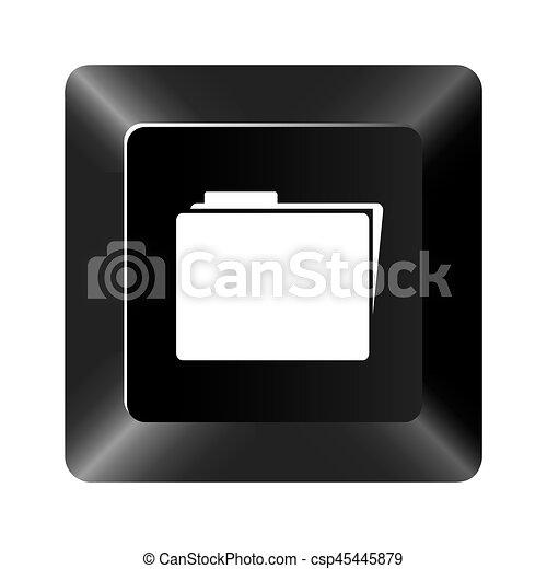 black button file icon - csp45445879