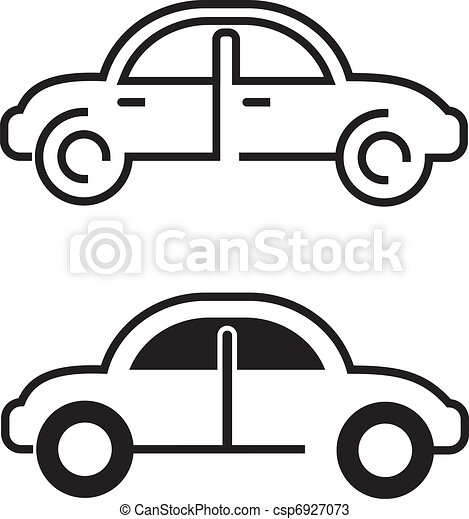 black car icon car vector icon on white isolated outline rh canstockphoto com car vector icon free car icon vector