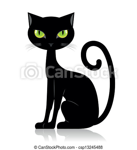 See A Cat Clip Art Black And White