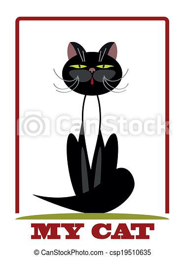 Black cat.  - csp19510635