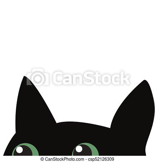 Black cat hiding - csp52126309