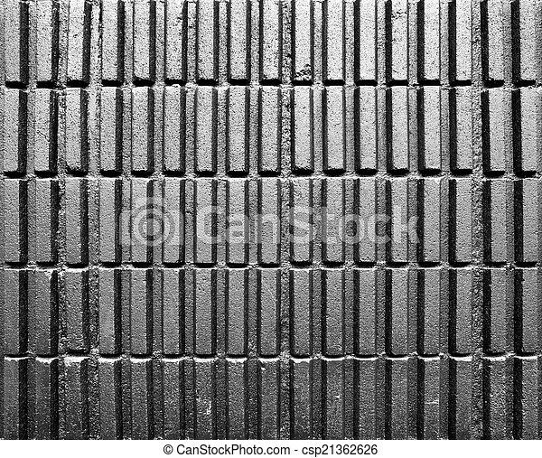 Black cement block wall - csp21362626