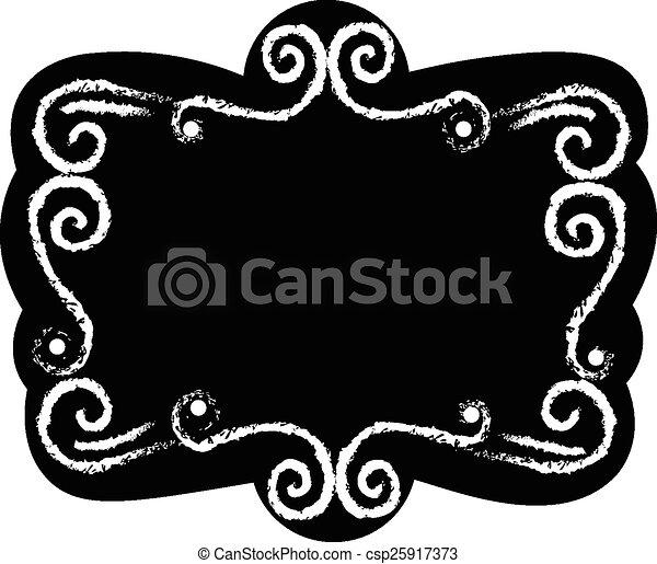 Black chalk board  - csp25917373