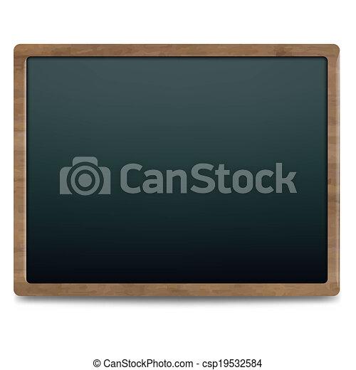 Black Chalk Board - csp19532584