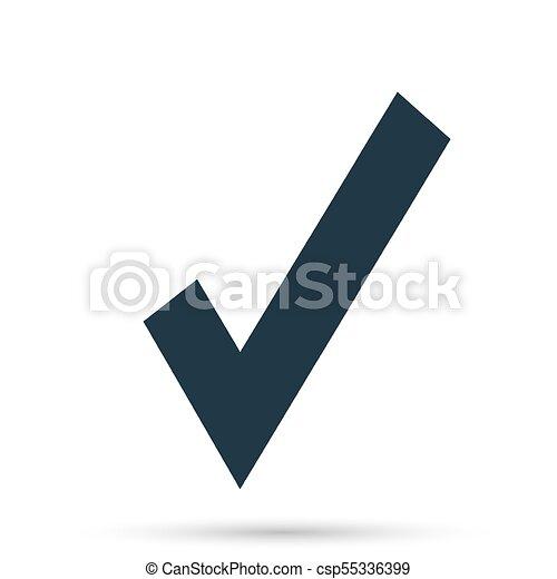 Black Check Mark Icon Tick Symbol In Black Color