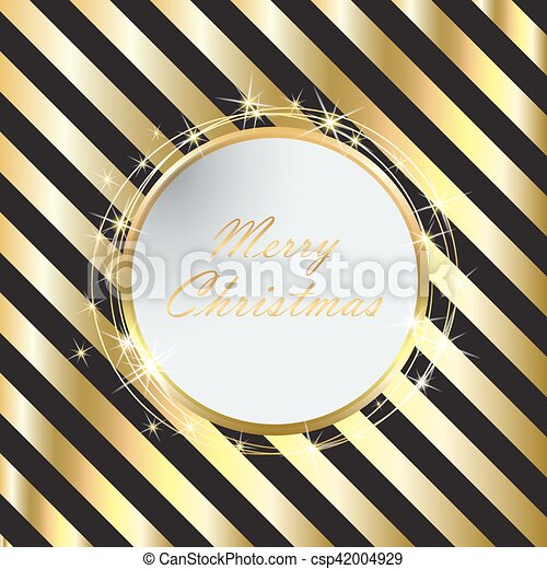 Black Christmas background with Golden stripes - csp42004929