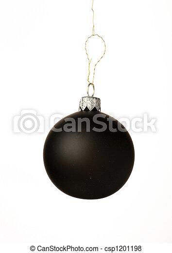 black christmas ball - csp1201198
