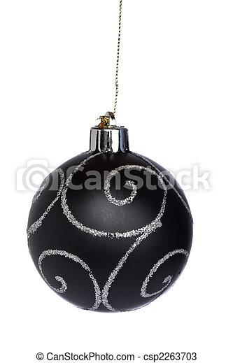 Black Christmas ball - csp2263703