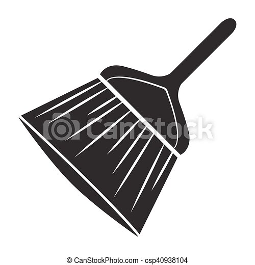 black cleaning brush logo vector rh canstockphoto com Coin Clip Art Oil Can Clip Art