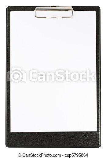 Black clipboard isolated on white  - csp5795864