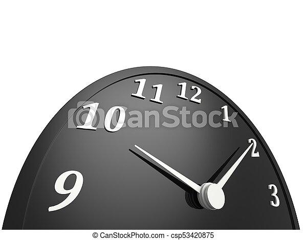 Black clock - time passing - csp53420875