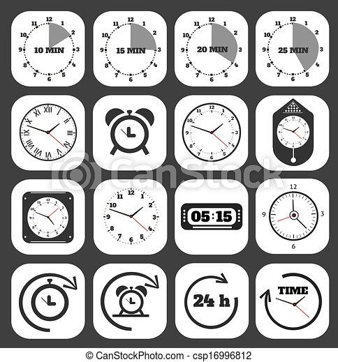Black clocks icon - csp16996812
