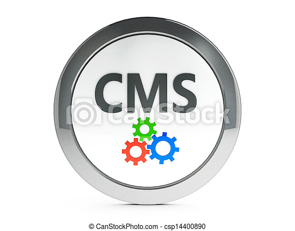 Black CMS icon with highlight - csp14400890