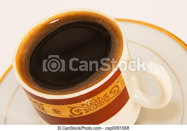 Black coffee close-u - csp0091068