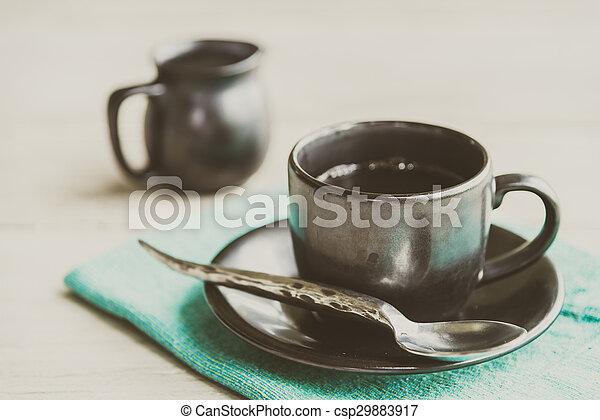Black coffee cup - csp29883917