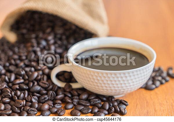 black coffee cup - csp45644176