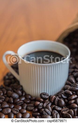black coffee cup - csp45879971