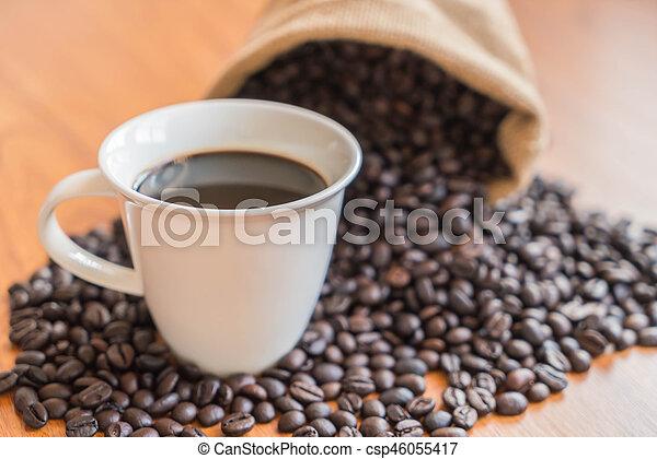 black coffee cup - csp46055417
