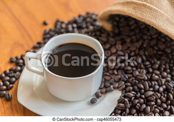 black coffee cup - csp46055473