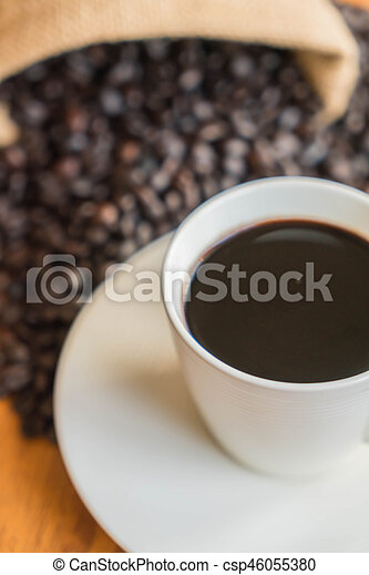 black coffee cup - csp46055380