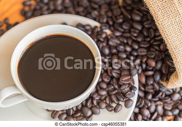 black coffee cup - csp46055381
