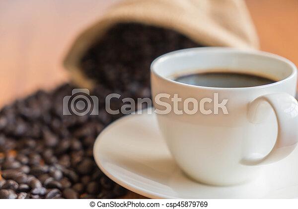 black coffee cup - csp45879769