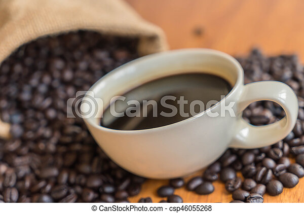 black coffee cup - csp46055268