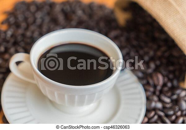 black coffee cup - csp46326063