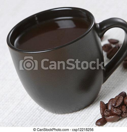 black coffee cup - csp12218256