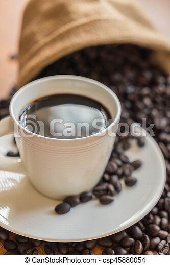 black coffee cup - csp45880054