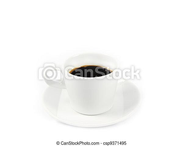 Black coffee cup - csp9371495